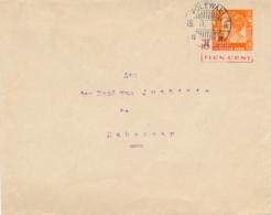 Nederlands Indië - 1937 - 10 Op 12,5 Cent Wilhelmina, Envelop G56b Van LB POLEWALI Naar Makasser - Nederlands-Indië