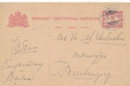 Nederlands Indië - 1918 - 5 Cent Cijfer, Briefkaart G23 Van LB RANGKAS-/BETOENG Naar Buitenzorg - Nederlands-Indië