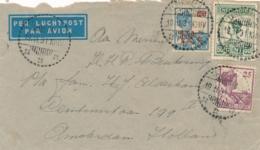 Nederlands Indië - 1931 - 87,5 Cent Tri-colore Frankering Op LP-cover Van LB TASIKMALAJA Naar Amsterdam / Nederland - Nederlands-Indië