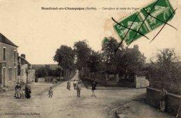 DOMFRONT-en-CHAMPAGNE  - Carrefour Et Route Du Mans - France