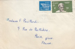 COVER EIRE 1969. MAHATMA GANDHI. TO PARIS - 1949-... Repubblica D'Irlanda