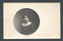 FEMME LADY FRAU  Portrait Médaillon De Melle Marguerite CPA Carte Photo - Postkaarten