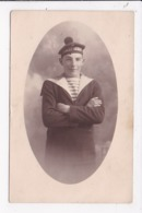 CARTE PHOTO MILITARIA Marin De L'Ernest Renan (Croiseur Cuirassé) - Personnages