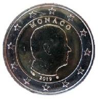 MONACO 2 Euro Münze 2019 - Kursmünze - UNC - Monaco