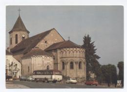 23 - AHUN  - Eglise Saint Sylvain VOITURES AUTO BUS CAR    - RECTO/VERSO - B79 - France