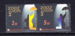 Europa Cept 2002 Croatia 2v ** Mnh (45185F) - 2002