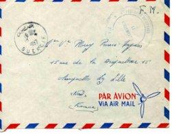 Maroc- Guercif, Lettre En Franchise Militaire - 2° Escadron-1°Régiment Des Spahis - 1957 - Marcophilie (Lettres)