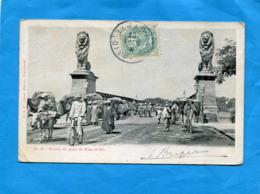 Carte De Port Saïd -entrée Animée  Du Pont De Kasr El Nil*-cad 1907+affranchie 5c   Type Blanc Port Saïd - Port Said (1899-1931)
