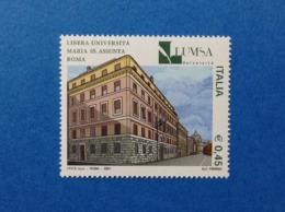 2004 ITALIA FRANCOBOLLO NUOVO STAMP NEW MNH** SCUOLE UNIVERSITA LUMSA ROMA - 6. 1946-.. Repubblica