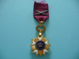 Ordre  Belge De La Couronne à Titre Militaire - Francia