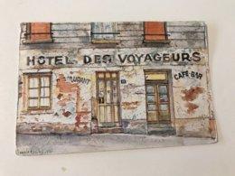 Carte Postale Ancienne  (1989)  Hôtel Des Voyageurs Maison Noël Versailles (postée Par BRUNET Isabelle) - Versailles