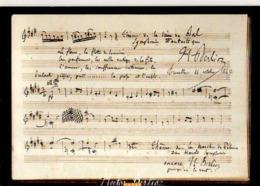 Coll Musee Hector Berlioz Carnet Voyage Belgique Et Allemagne Souvenirs ,betises, Improvisations, Partition - Musique Et Musiciens