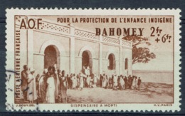 Dahomey (French Colony, Now Benin), 2f.+6f., Childhood Welfare, 1942, VFU Airmail - Usados