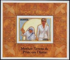 Uganda 1998 MNH MS, Diana, Mother Teresa, Noble Prize Winner - Mutter Teresa