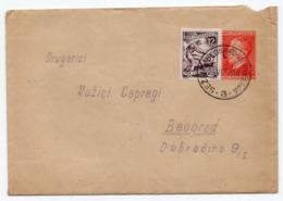 1953 FNR YUGOSLAVIA, SLOVENIA, TPO 3 SEZANA-BEOGRAD-DJEVDJELIJA, STATIONARY COVER - Postwaardestukken