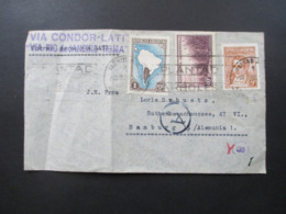 Argentinien 1940 / 41 Luftpost / Zensurbeleg Via Condor Lati Via Rio De Janeiro - Roma Nach Hamburg Im Deutschen Reich - Argentina