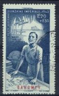 Dahomey (French Colony, Now Benin), Imperial Fortnight, 1942, VFU Airmail - Dahomey (1899-1944)