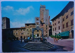SAN GIMIGNANO (Siena) - Piazza Della Cisterna, Palazzi Medievali - Vg T2 - Siena
