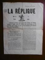 BELGIQUE FLORENNES JOURNAL GRATUIT LA REPLIQUE 1886 - Boeken, Tijdschriften, Stripverhalen