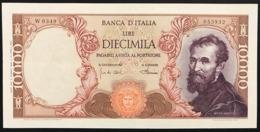 10000 LIRE MICHELANGELO 1968 SOSTITUTIVO W0349  BIGLIETTO PRESSATO Spl/sup R2 RR Spl/sup LOTTO 759 - [ 2] 1946-… : Repubblica