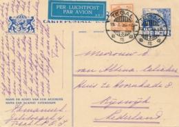 Nederlands Indië - 1935 - 5 Cent Karbouwen, Briefkaart G56 + 20 Cent Van LBnr TEGAL/3 Naar Rijswijk / Nederland - Nederlands-Indië