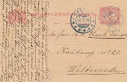 Nederlands Indië - 1918 - 5 Cent Cijfer, Briefkaart G23 Van LB TJISOEROEPAN Via KB GAROET Naar Weltevreden - Nederlands-Indië