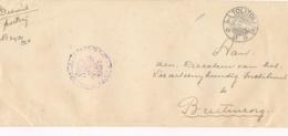 Nederlands Indië - 1932 - Portvrije Dienstbrief Van LB TOLITOLI Naar Buitenzorg Seint Via Radio - Nederlands-Indië