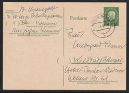 "Postkarte MiNr. P 49 HEUSS II 1961 ""Postfachnummer"", Gestempelt BERLIN-WANNSEE 1  -2.9.61 -19 E Nach Wildbad - Postcards - Used"