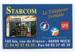 Telecarte °_ Publicité-carton-Starcom-téléphone Portable-Nice- R/V ° TBE - Advertising