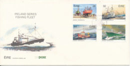 Ireland FDC 17-10-1991 Fishing Fleet Complete Set Of 4 With Cachet - FDC
