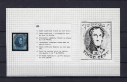 N°7 (plaat III Positie 135) GESTEMPELD MET 4 MARGES SUPERBE - 1851-1857 Medaillons (6/8)