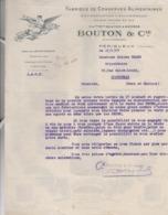 PERIGUEUX   DORDOGNE FACTURE 1927   BOUTON  CONSERVES ALIMENTAIRES TRUFFES - Francia
