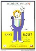 Carte Postale : Anne Baquet - Théâtre Du Balcon - Avignon - Illustration Savignac - Savignac
