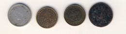 Quatre Monnaies Pays Bas  1875 1903 1911 1915 Et Une Indes Néerlandaises 1/10 Gulden - [ 3] 1815-… : Regno Dei Paesi Bassi