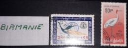 BIRMANIE - 2 TIMBRES - Lot 24 - Voir Mes Autres Ventes De 150 Pays - Sammlungen (ohne Album)