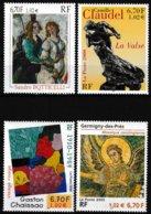 Série De 4 T.-P. Gommés Neufs** - Botticelli Claudel Chaissac Mosaïque - N° 3301-3309-3350-3358 (Yvert) - France 2000 - Neufs