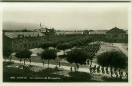 SWITZERLAND - GENEVE - LES CASERNES DE PLAINPALAIS - EDITION JAEGER - RPPC POSTCARD 1940s (5619) - GE Geneva