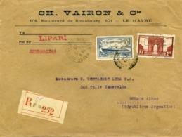 Lettre Recommandée Le Havre 1935 C.V 374 - Francia