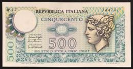 500 Lire Mercurio 1976 W 17 Sostitutivo Raro Q.fds  LOTTO 2162 - [ 2] 1946-… : Républic