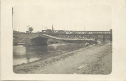 Themes Div-ref BB964- Carte Photo Non Située - Ponts - Pont Detruit  - - Postkaarten