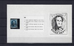 N°7 (plaat III Positie 151) GESTEMPELD MET 4 MARGES SUPERBE - 1851-1857 Médaillons (6/8)