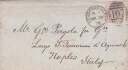 BUSTA PIEGO VIAGGIATA  - GRAN BRETAGNA - BRADFORD - YORKS - SENZA TESTO - VIAGGATA PER NAPOLI ( ITALIA) ANNO. 1878 - 1840-1901 (Regina Victoria)