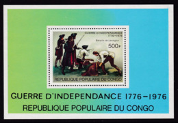 BLOC NEUF DU CONGO - GUERRE D'INDEPENDANCE DES U.S.A. : LA BATAILLE DE LEXINGTON N° Y&T BF 10 - Unabhängigkeit USA