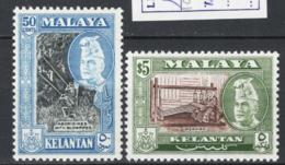 Malaysia Kelantan 1957 Y.T.85,88 **/MNH VF - Kelantan