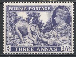 Birmania 1938 Y.T.26 **/MNH VF/F - Burma (...-1947)
