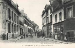 62 Saint Pol Rue De Bethune Cpa Carte Animée Magasin Commerce Charcuterie Epicerie - Saint Pol Sur Ternoise