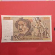 Billet De 100 Francs Eugène Delacroix Fauté - Errori
