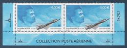 Poste Aérienne 2 X N° 66 A , Jacqueline Auriol , Provenant De La Feuille De 10 Timbres , Port Gratuit - Poste Aérienne