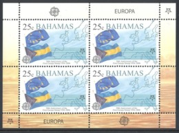 BAHAMAS 2005 EUROPA CEPT 50th ANNIV.  25 Cent Sheet MNH SC# 1150/53 YT 1213/16 - MI 1224/27 - Bahama's (1973-...)