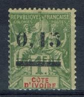 "Ivory Coast, ""Groupe"" Overprint, 0,15/1f., 1904, MH VF - Ivory Coast (1892-1944)"